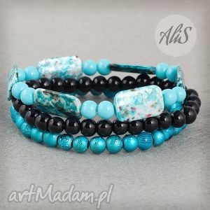 hand-made bransoletki odcienie niebieskiego
