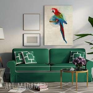 obraz na płotnie - 70x100cm papuga 0233 wysyłka w 24h, obraz, wydruk, papuga, ptak