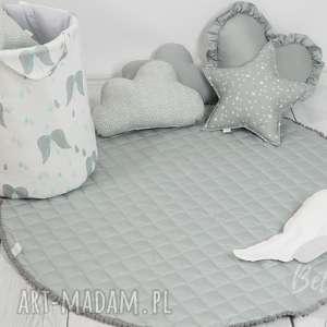 Mata do zabawy pikowana szara dywanik pokoik dziecka betulli