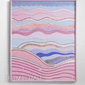 Obraz dekoracyjny fale, nowoczesny w pastelowej kolorstyce