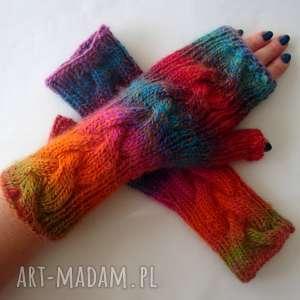 tĘczowe- zamówienie dla pani joanny - ciepłe, wełniane, modne, kolorowe