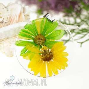 z212 duży naszyjnik z prawdziwym kwiatem - naszyjnik-z-kwiatem