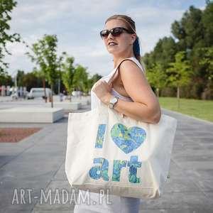torba bawełniana duża i love art, gogh, irysy, zakupy, sztuka, impresjonizm