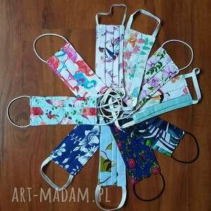 Wzory kwiatowe maseczka ochronna dla kobiet kolorowe bawełna
