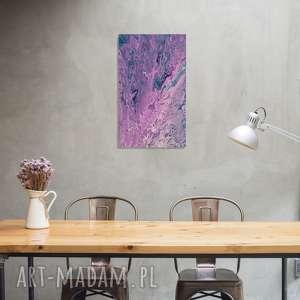 obraz abstrakcja 30x50 akryle na płótnie, abstrakcja, abstrakcyjny