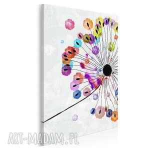 obraz na płótnie - dmuchawiec kolorowy w pionie 50x70 cm 73503