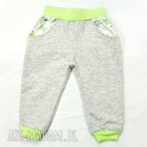 handmade spodnie dla dziewczynki, sowy, bawełna organiczna, spodnie na jesień