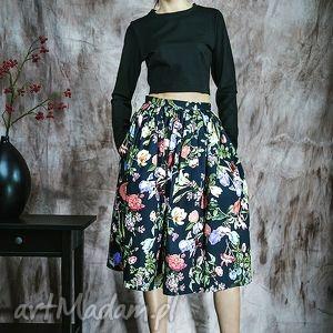 handmade spódnice kwiecista spódnica z kieszeniami