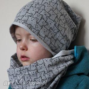 misiowa czapka komin - ninoola, czapka, komin, dresowa, dresówka, wiosenna
