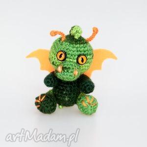 ręcznie zrobione zabawki malutki smoczek zielony