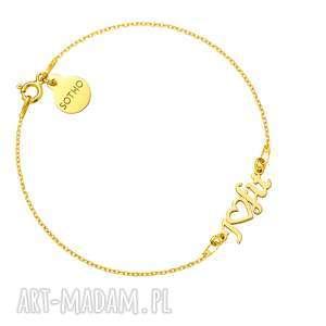 ręcznie robione bransoletki złota bransoletka i love fit