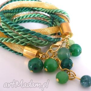 green pleasure, kamienie, półszlachetne, sznurek, łańcuch, łańcuszek, lina