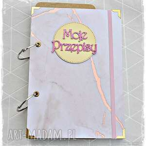 scrapbooking notesy niekończący się przepiśnik - różowy marmur