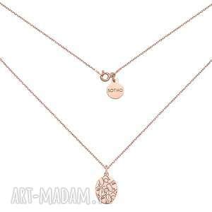 medalion z różowego złota art n°3 - łańcuszek