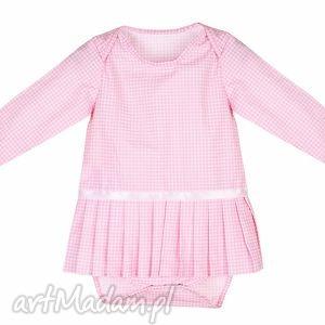 sukienka-body z plisowaną spódniczką r 62-92, sukienka, body, bawełna, spódniczka dla