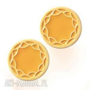 ceramika gałki do mebli żółte wz iv, mebli, uchwyty ornament