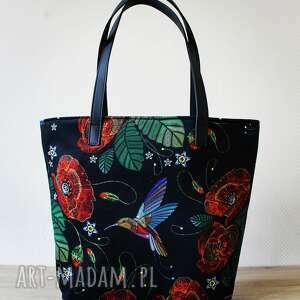 Pomysł na prezenty święta? Shopper bag bucket - maki na ramię