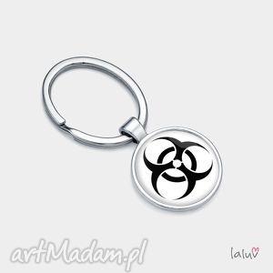 brelok do kluczy biohazard, znak, symbol, grafika, niebezpieczeństwo, zagrożenie
