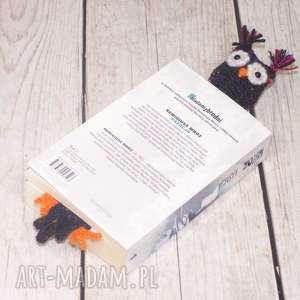 kalisz made sowa książkowa - czarna, sowa, zakładka, czytanie, sówka, książka