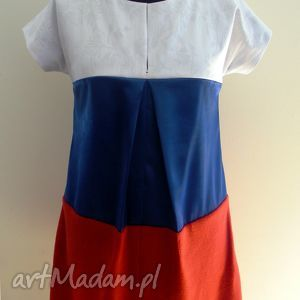 sukienki sukienka 3 kolory, sukienka, bawełna, satyna, klasyczna, francuska