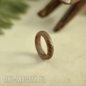 Obrączka z egzotycznego drewna tekowego obrączki drevniana