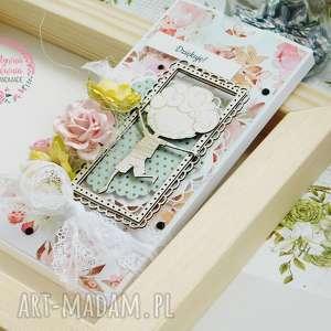 handmade scrapbooking kartki czekoladownik - podziękowanie