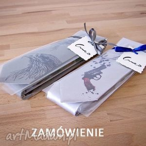 krawaty zamówienie indywidualne dla p agaty - krawat, nadruk, bicykl