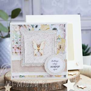przeurocza kartka na każdą okazję w pudełku motylek urodziny, imieniny