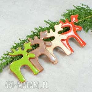 zestaw świątecznych magnesów - renifery, świąteczne magnesy, boże
