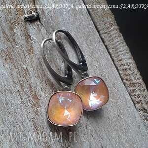 powiew lata kolczyki z kryształu swarovski i srebra, kryształ swarovski, srebro