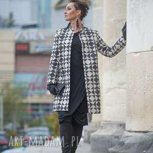 lniany płaszcz - elegancki wiosenny, party płaszcz, boho medium
