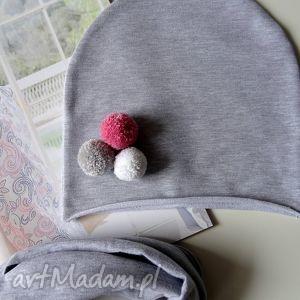 hand made czapki jesienny zestaw dla dziecka czapka oraz komin