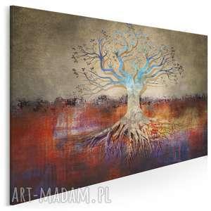 obraz na płótnie - drzewo korzenie 120x80 cm (54701)