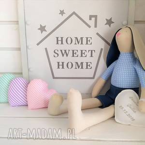 handmade lalki królik tilda pamiątka chrztu narodzin komunii