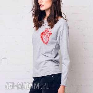 HEART Bluza Oversize, oversize, bluzka, longsleeve, bawełna, casual, moda