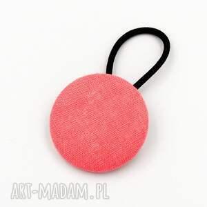 gumka do włosów linen coral pink, włosów, ozdoby