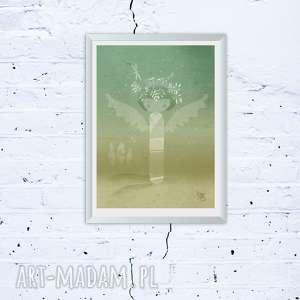 grafika plakat totem a3, anioł, dom, totem, plakat, prezent, prezenty na święta
