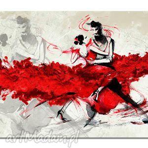 ręcznie robione obrazy obraz xxl tancerze -120x70cm obraz na płótnie