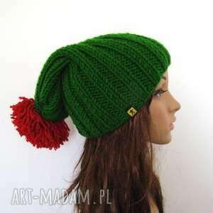 czapki czapka ściągaczowa z pomponem - różne kolory, czapka, narciarska, zimowa