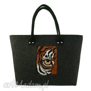 do ręki eye of the tiger, motywyzwierzęce, tygrys, haft, filc, royaltrend, unikalny