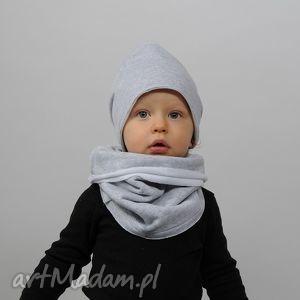 ubranka czapka zimowa podwójna szara, bawełna, handamde, czapa, podwójna, ciepła