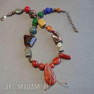 naszyjniki modny naszyjnik z minerałów bajecznie kolorowy, niezwykle efektowny