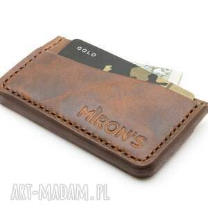card holder brązowy, portfel, męski, cardholder, karty, skóra, skórzany, świąteczny