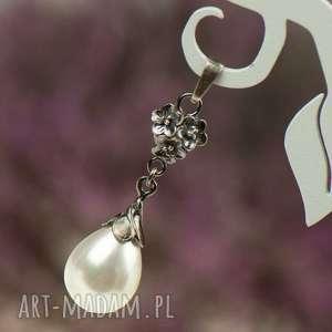 wisior srebrny emma z perłami seashell a796-wis, wisior, perły
