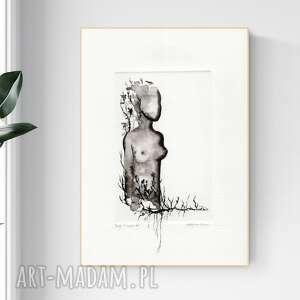 Grafika 21 x 30 cm wykonana ręcznie, obrazek na prezent, grafiki