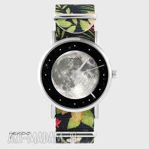 ręcznie wykonane zegarki zegarek - księżyc kwiaty, nato
