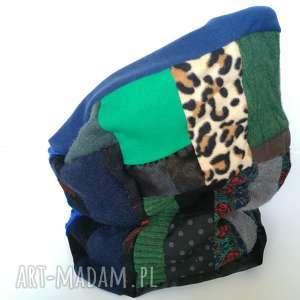 komin damski patchworkowy kolorowy handmade, komin, etno, boho, patchwork, wiosenny,