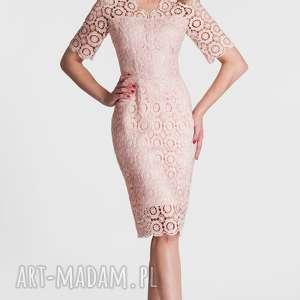 prev-next Poprzednie Sukienka OLENA Midi Koronka (Pastelowy Róż)