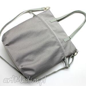 handmade na ramię shopper bag sack - szara