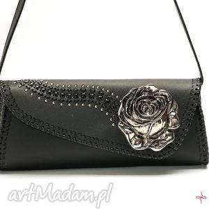 torebka z różą, góralska, ludowa, podhalańska, róża, kwiat torebki